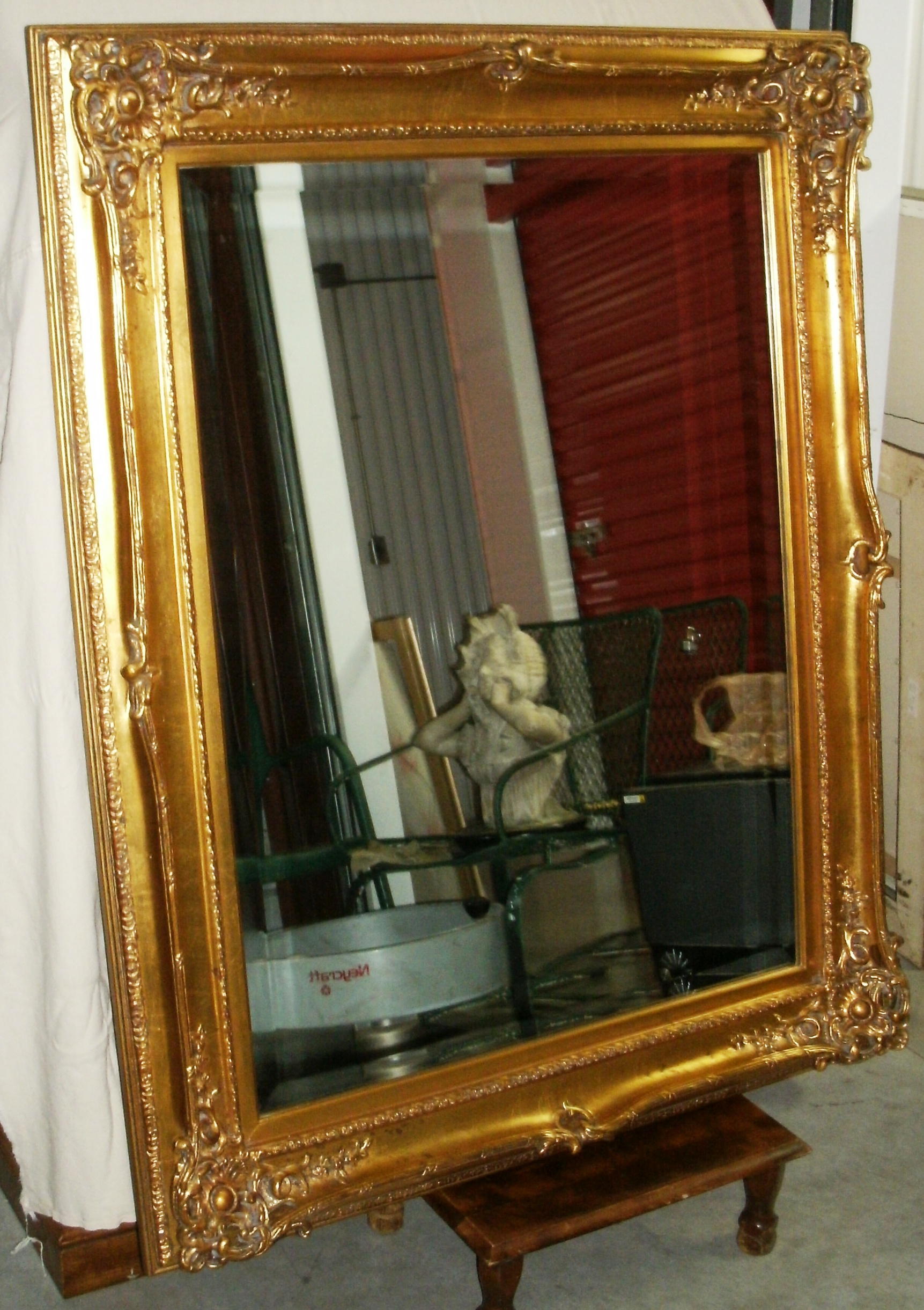 Large Ornate Gold Toned Beveled Mirror Approximate Dimensions H 51 X W 41 175 Customer Pickup Extra